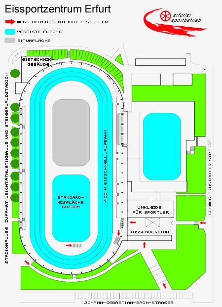Lageplan der Halle