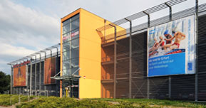 """Aussenansicht Parkhaus """"Am Stadion"""""""